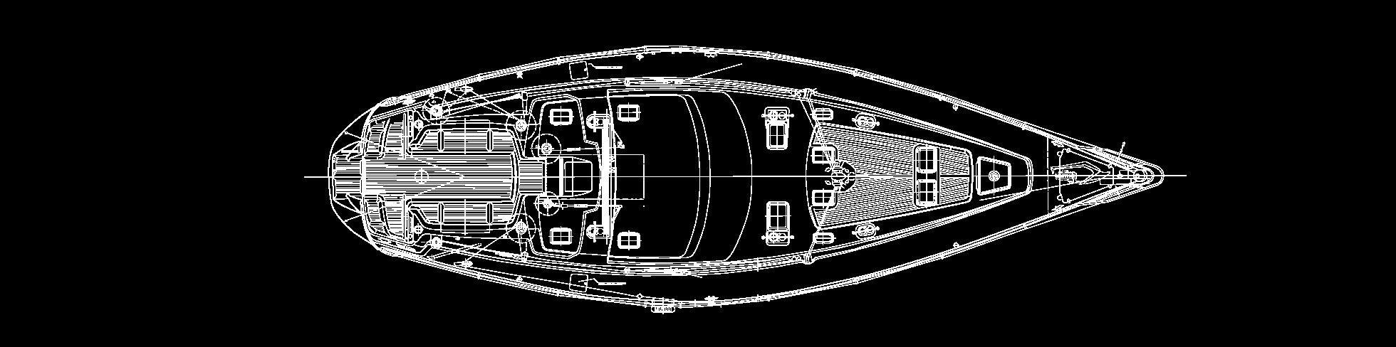 plan extérieur du voilier